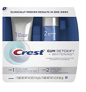 Избелващ комплект Crest Gum Detoxify + Whitening 2 стъпки