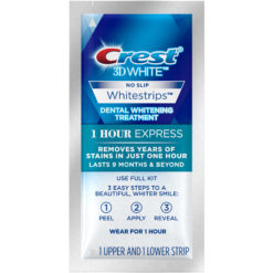 Избелващи ленти Crest 3D White 1 Hour Express No slip - Без опаковка
